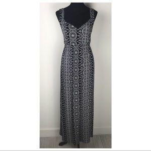 Soma Black White Stretchy Lace Inlay Maxi Dress